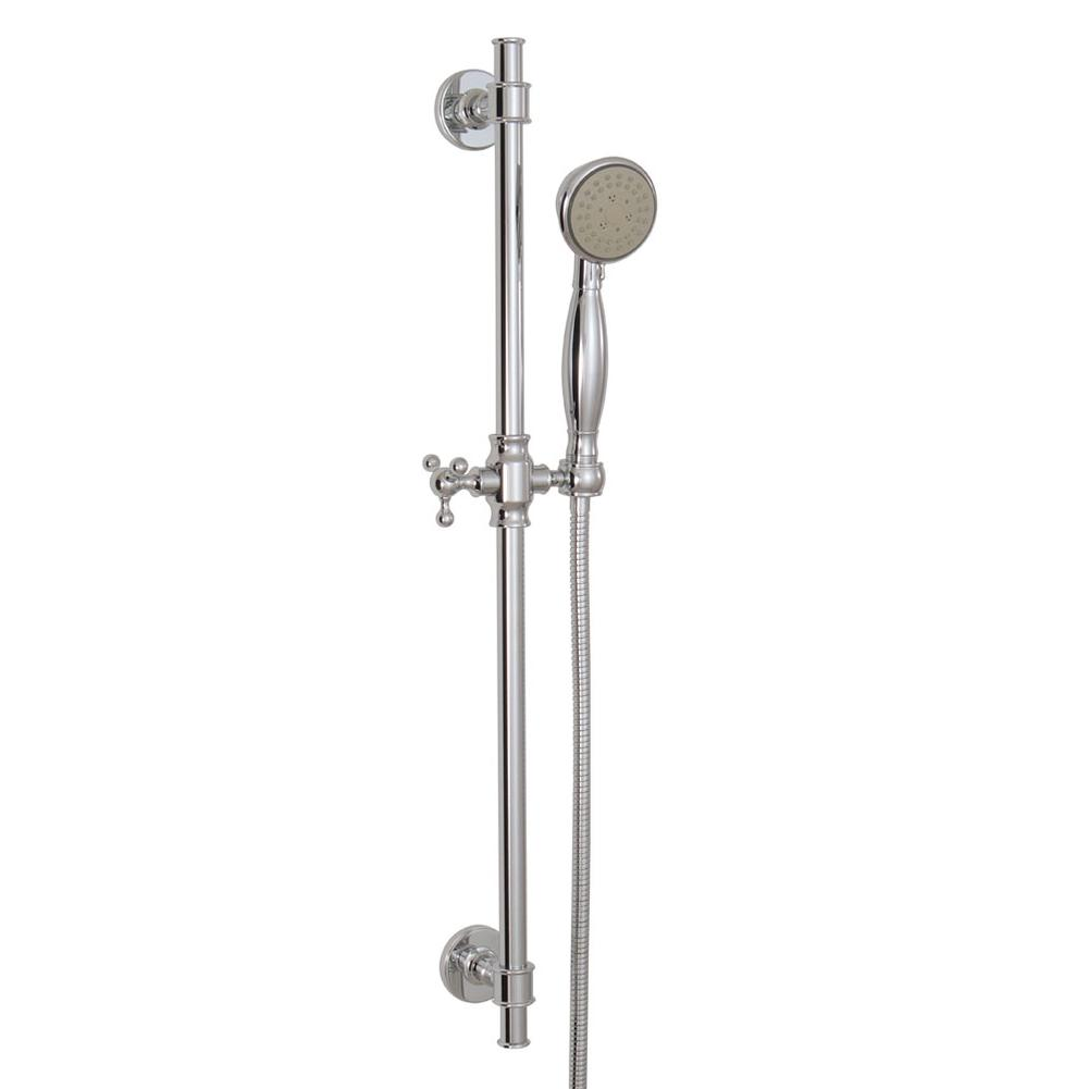 Aquabrass 12762 COMPLETE ROUND  SHOWER RAIL - 5 FUNCTIONS