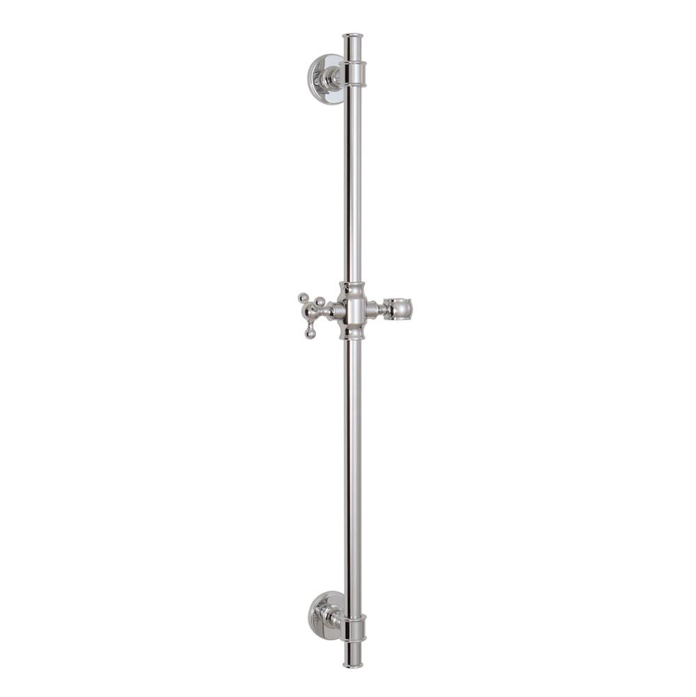 Aquabrass 12763 CLASSIC ROUND SHOWER RAIL WITH SLIDER