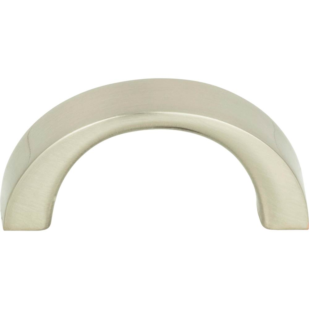 Atlas Tableau Curved Pull 1 7/16 Inch Brushed Nickel