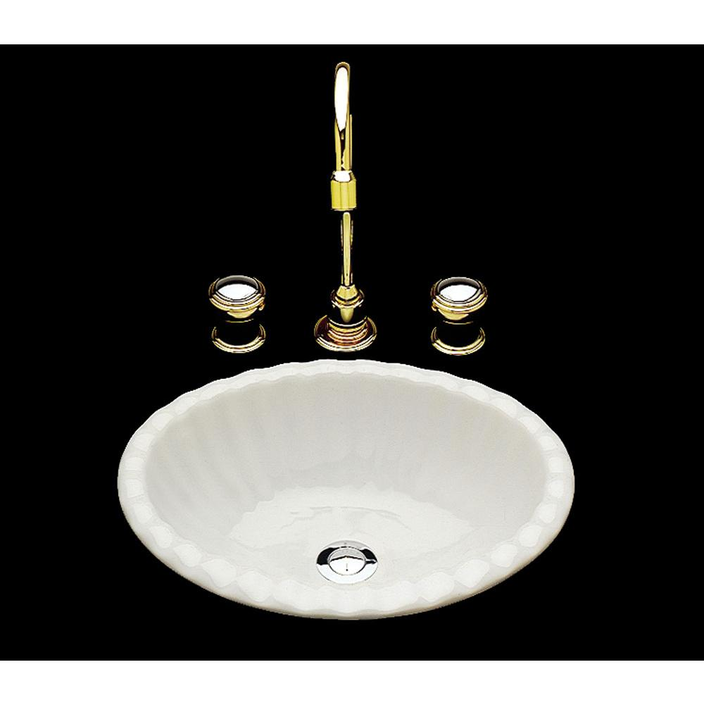 Bates And Bates Missy, Single Glazed, Small Fluted Oval Lavatory, Drop In