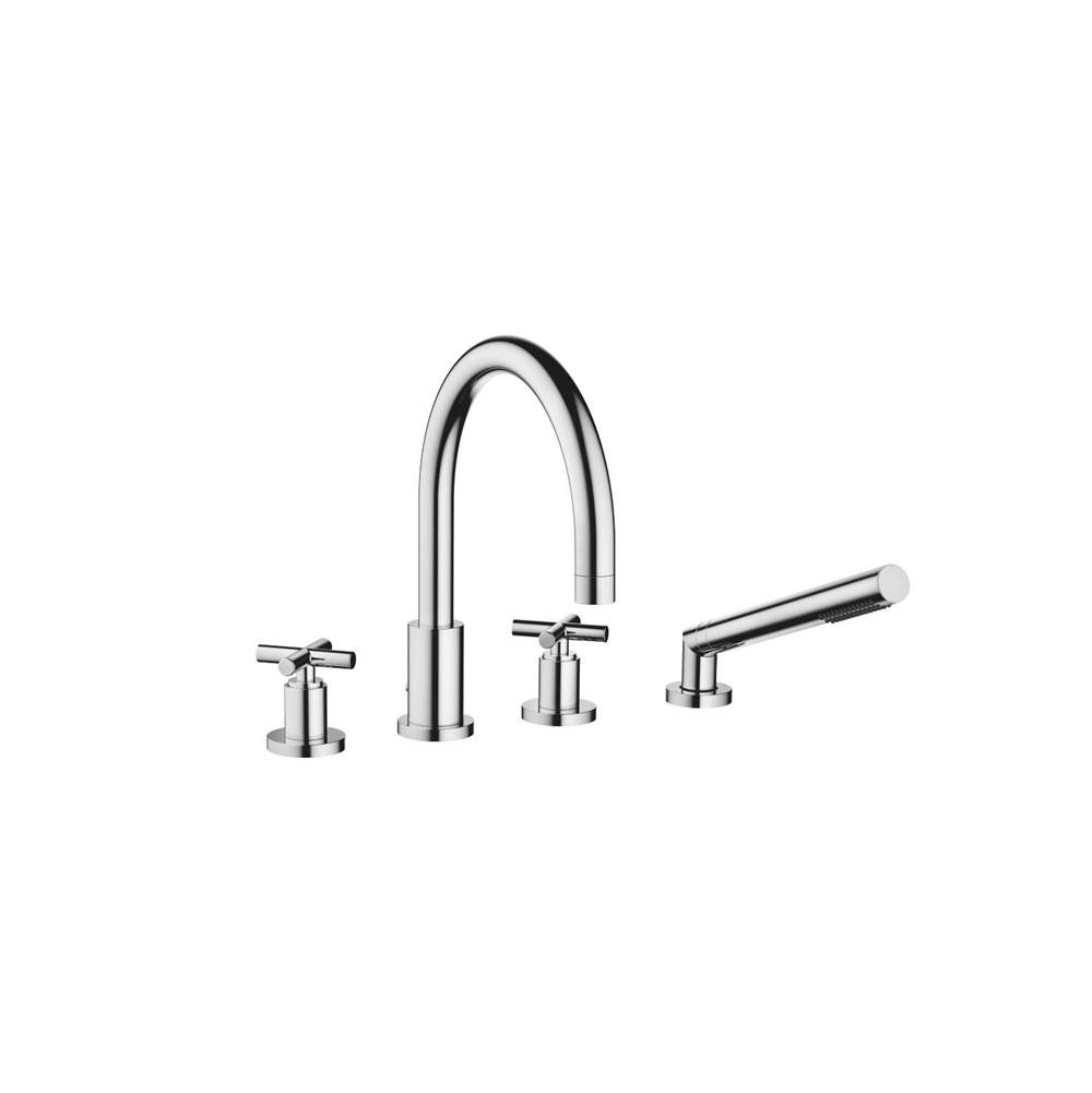 Dornbracht Deck-mounted tub mixer, with hand shower set for deck-mounted tub installation