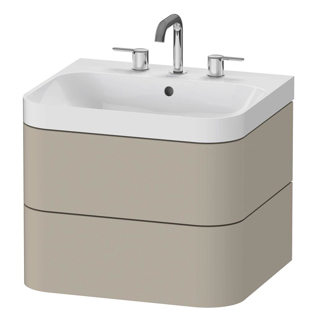 Duravit Duravit Happy D.2 Plus C-Shaped Wall Mounted Vanity Unit  Taupe Satin Matte