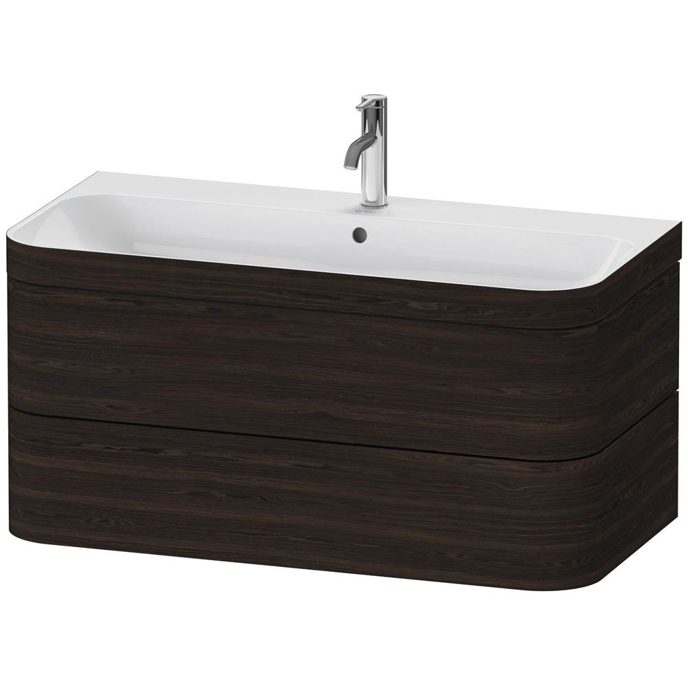 Duravit Duravit Happy D.2 Plus C-Bonded Wall-Mounted Vanity  Brushed Walnut