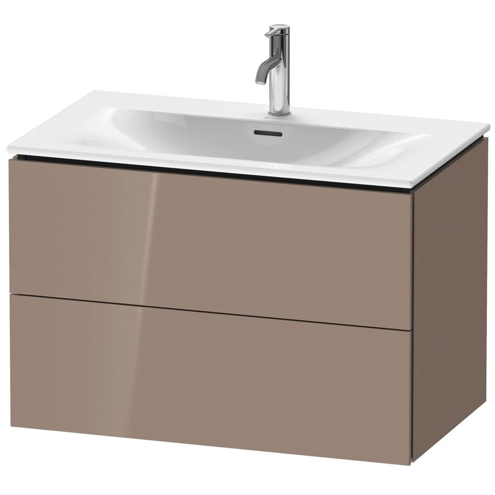 Duravit Duravit L-Cube Vanity Unit Wall-Mounted  Cappuccino High Gloss