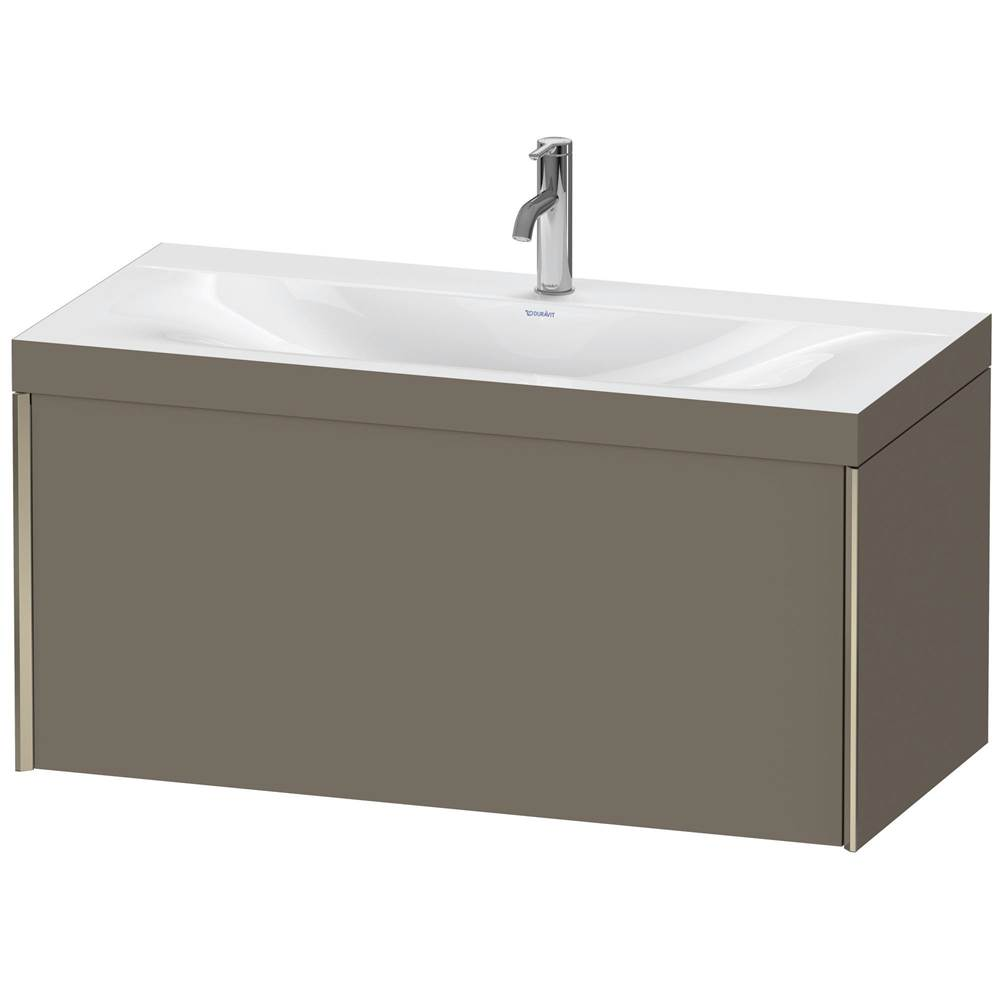 Duravit Duravit XViu C-Bonded Wall-Mounted Vanity  Flannel Gray Satin Matte