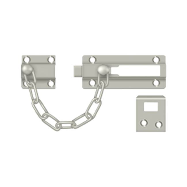 Deltana Deadbolt Chain Door Guard, Satin Nickel