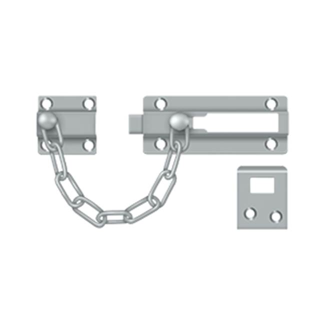 Deltana Deadbolt Chain Door Guard, Brushed Chrome