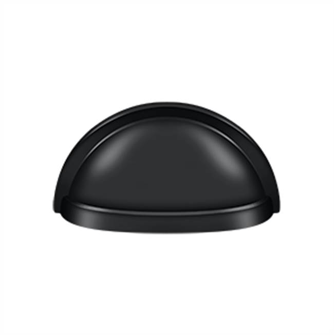 Deltana Oval Shell Handle Pull H.D, Matte Black