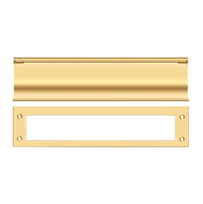 Deltana Mail Slot Hd Solid Brass 13X3'', PVD Polished Brass