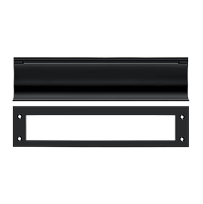 Deltana Mail Slot Hd Solid Brass 13X3'', Matte Black