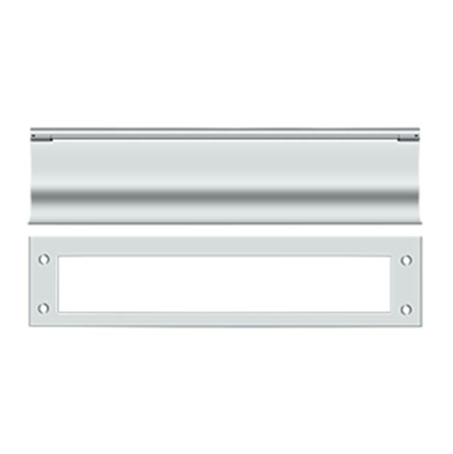 Deltana Mail Slot Hd Solid Brass 13X3'', Polished Chrome