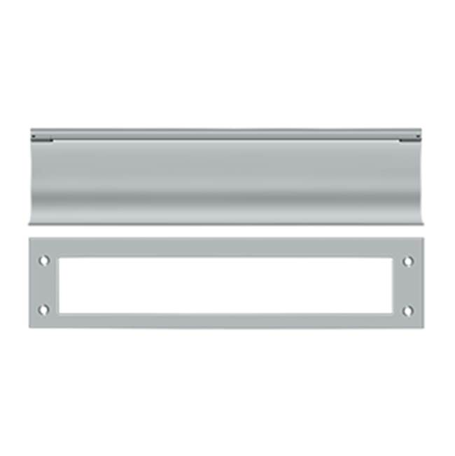 Deltana Mail Slot Hd Solid Brass 13X3'', Brushed Chrome