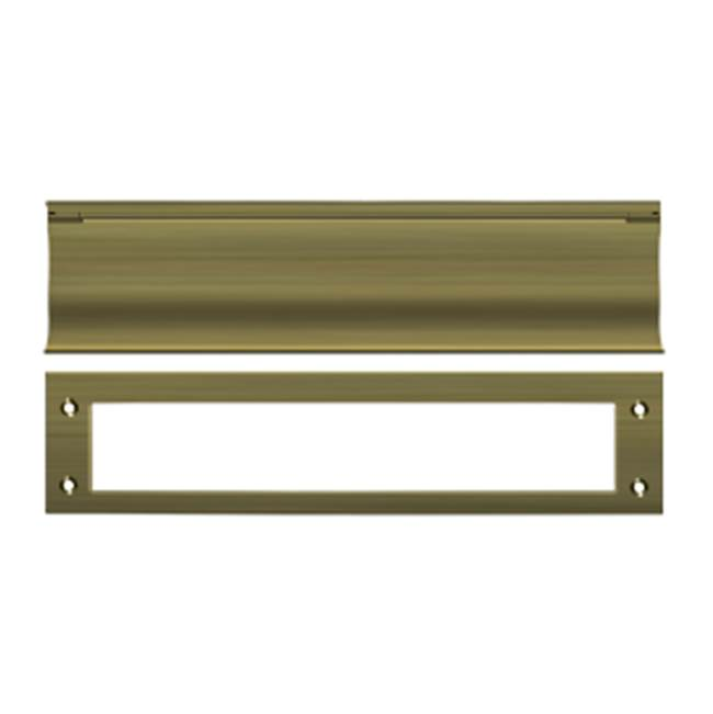 Deltana Mail Slot Hd Solid Brass 13X3'', Antique Brass