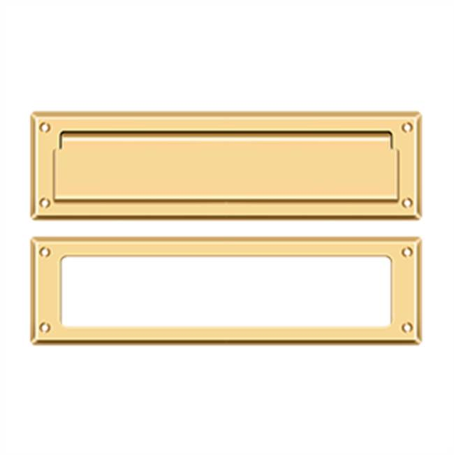Deltana Mail Slot Kit Sb 2 1/4 X 11, PVD Polished Brass
