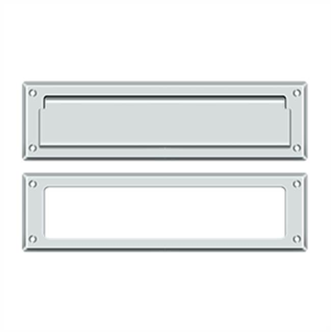 Deltana Mail Slot Kit Sb 2 1/4 X 11, Polished Chrome
