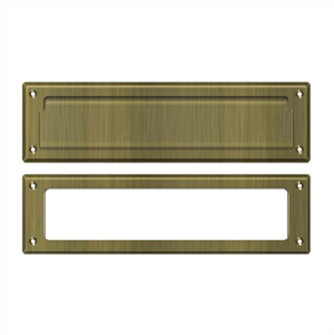 Deltana Mail Slot Kit Sb 2 1/4 X 11, Antique Brass