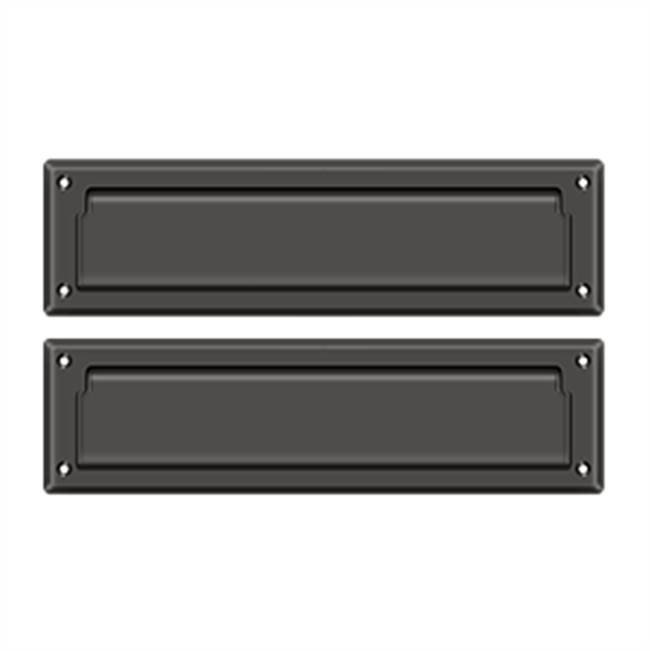 Deltana Mail Slot Sb 2 1/4 X 11, Oil Rubbed Bronze W/ Flap Int Plate