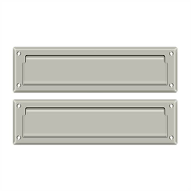 Deltana Mail Slot Sb 2 1/4 X 11, Satin Nickel W/ Flap Int Plate