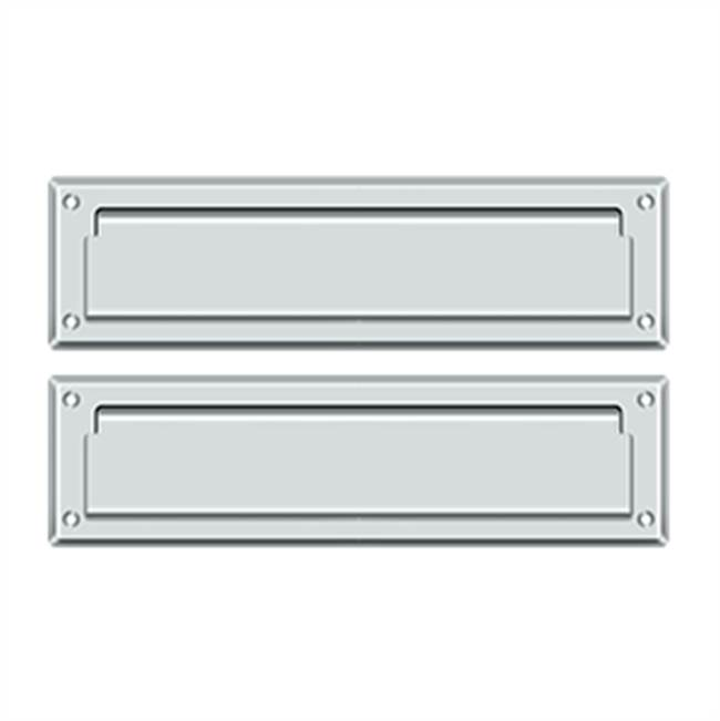 Deltana Mail Slot Sb 2 1/4 X 11, Polished Chrome W/ Flap Int Plate