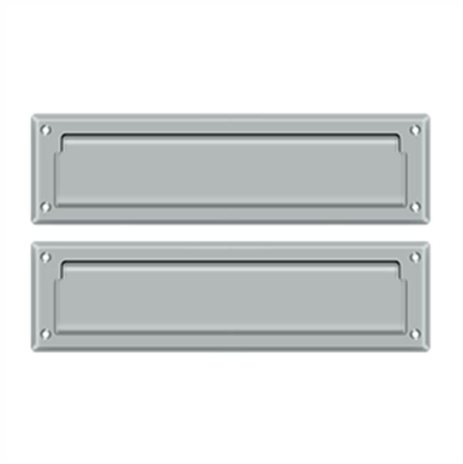 Deltana Mail Slot Sb 2 1/4 X 11, Brushed Chrome W/ Flap Int Plate