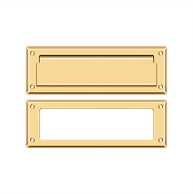 Deltana Mail Slot Kit Standard Sb 2 7/8 X 8 3/4, PVD Polished Brass