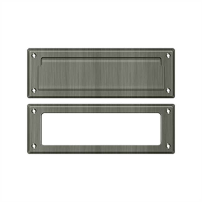 Deltana Mail Slot Kit Standard Sb 2 7/8 X 8 3/4, Antique Nickel