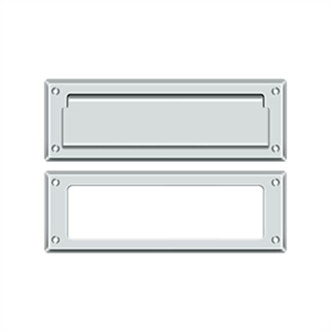 Deltana Mail Slot Kit Standard Sb 2 7/8 X 8 3/4, Polished Chrome
