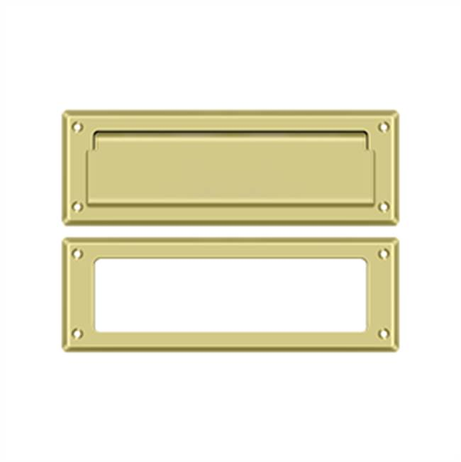 Deltana Mail Slot Kit Standard Sb 2 7/8 X 8 3/4, Polished Brass