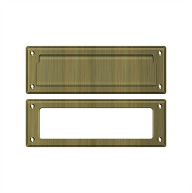 Deltana Mail Slot Kit Standard Sb 2 7/8 X 8 3/4, Antique Brass
