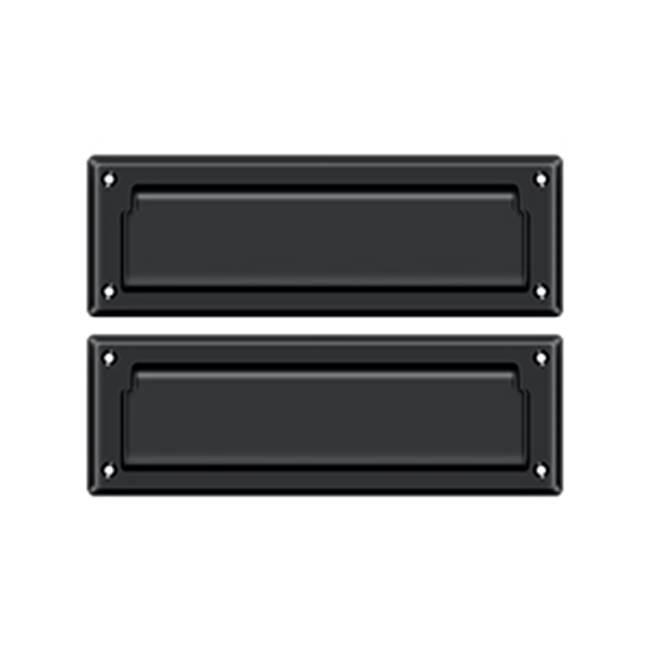 Deltana Mail Slot Kit With Covered Back Platesb 2 7/8 X 8 3/4, Matte Black