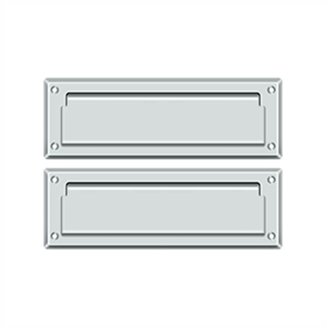 Deltana Mail Slot Kit With Covered Back Platesb 2 7/8 X 8 3/4, Polished Chrome
