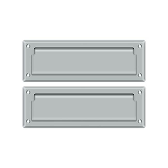 Deltana Mail Slot Kit With Covered Back Platesb 2 7/8 X 8 3/4, Brushed Chrome