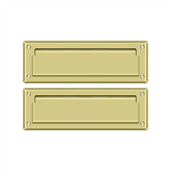 Deltana Mail Slot Kit With Covered Back Platesb 2 7/8 X 8 3/4, Polished Brass