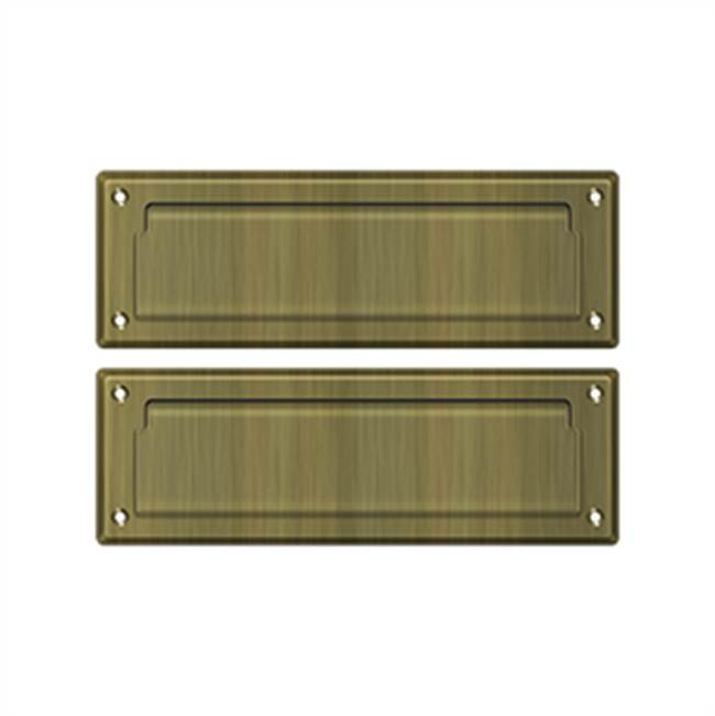 Deltana Mail Slot Kit With Covered Back Platesb 2 7/8 X 8 3/4, Antique Brass