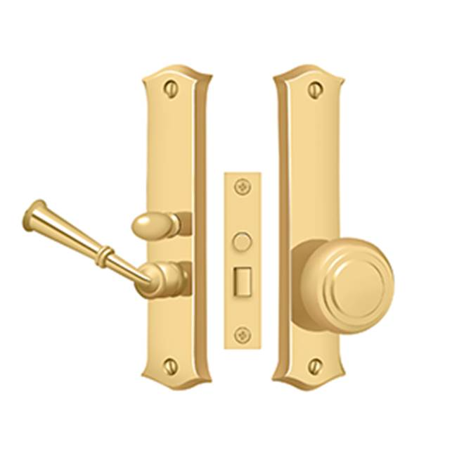 Deltana Screen D. Latch Mortise W/ Privacy Func. 6'', PVD Polished Brass