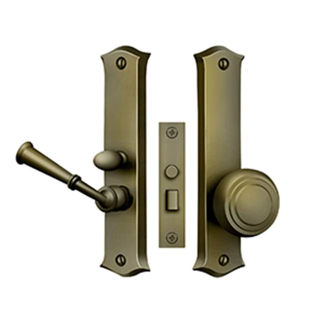 Deltana Screen D. Latch Mortise W/ Privacy Func. 6'', Antique Brass