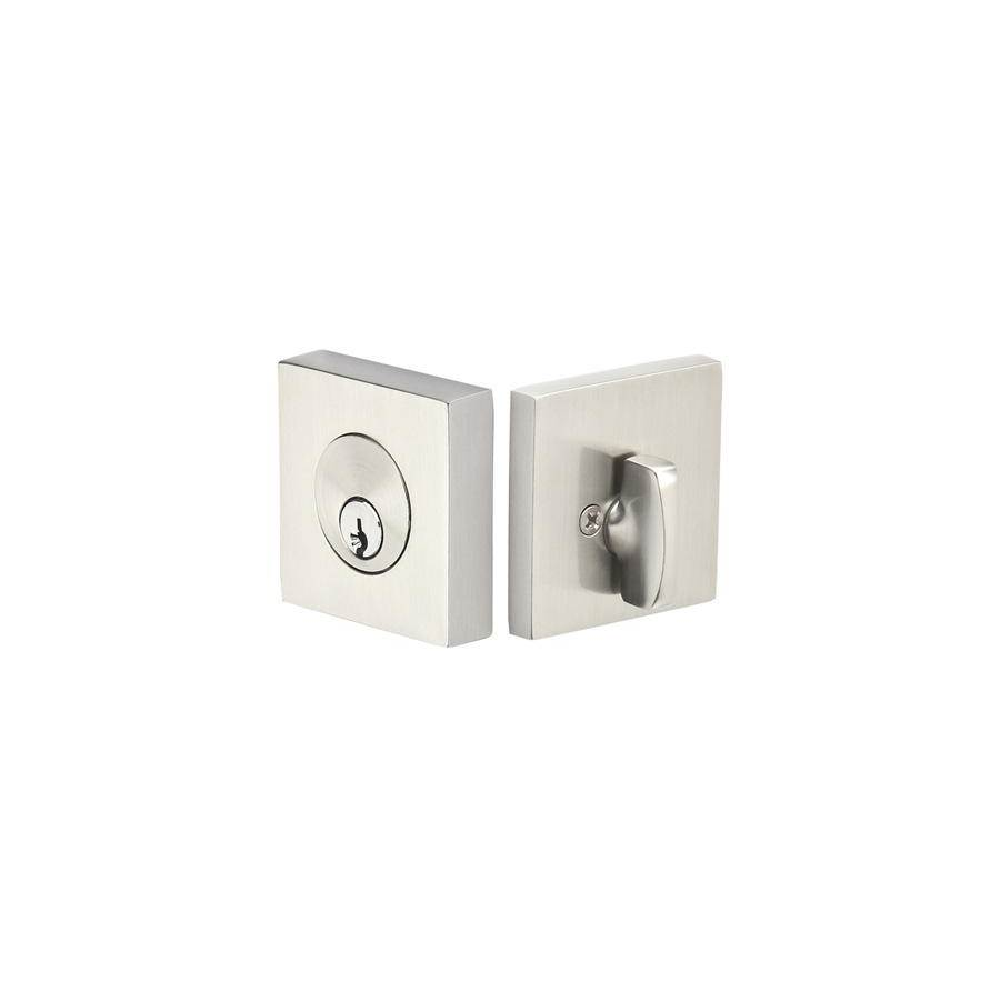 Emtek Weiser Keyway, Square Deadbolt, Sgl, US10B