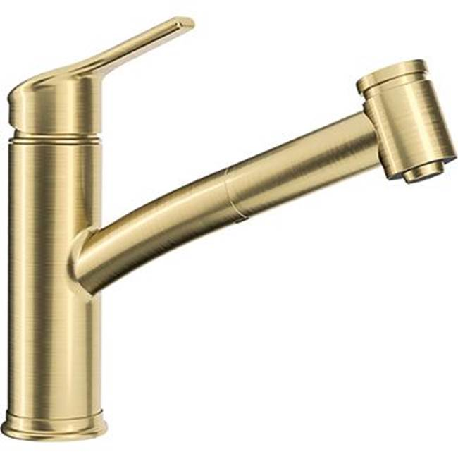 Franke Ambient Classic Brushed Goldsingle Hole Pull Out 2 Spray