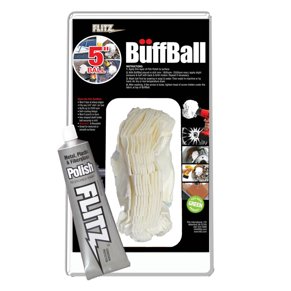Flitz 2'' Buff Ball (Wheels, Motorcycle, Boat Accessories)