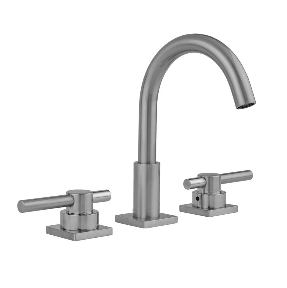 Jaclo Uptown Contempo Faucet with Square Escutcheons and Low Peg Lever Handles- 0.5 GPM