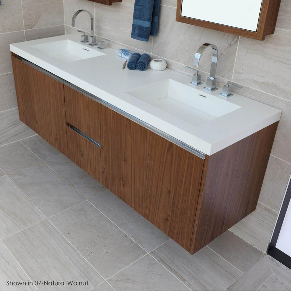 Lacava Vanity-Top Double Bowl Bathroom Sink
