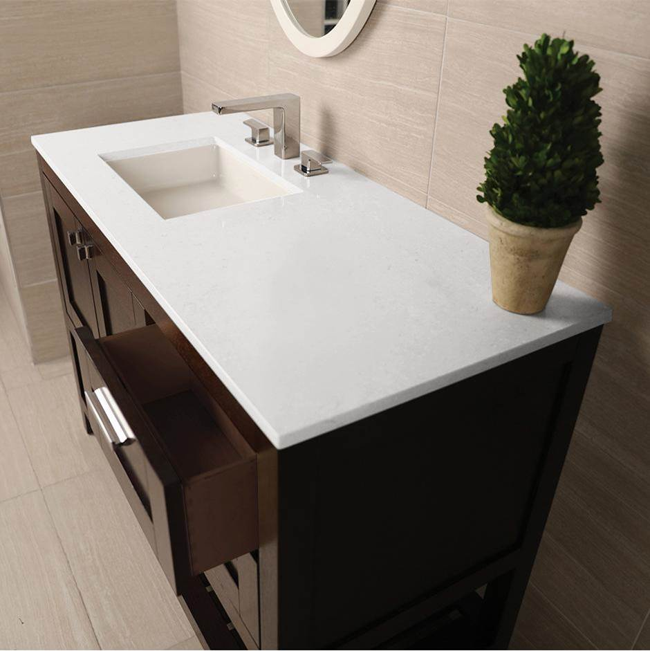 Lacava Countertop for vanity STL-F-36R & STL-W-36R, with a cut-out for Bathroom Sink 5452UN. W: 36'', D: 21'', H: 3/4''.