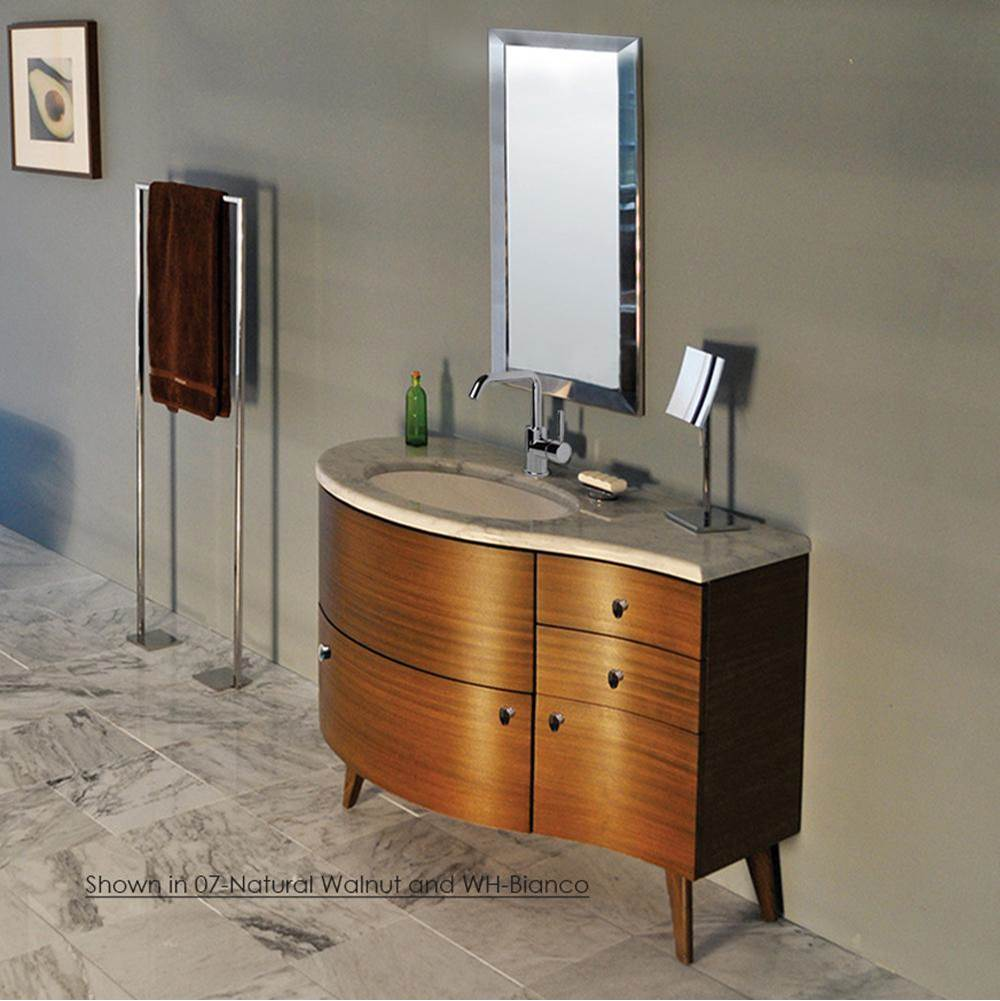 Lacava Countertop for vanity FLO-F-48L, with a cut-out for Bathroom Sink 33LA, DX and SX. 48 1/2''W, 21 3/4''D, 1 1/4''H. Washbasin 33LA sold separately. A