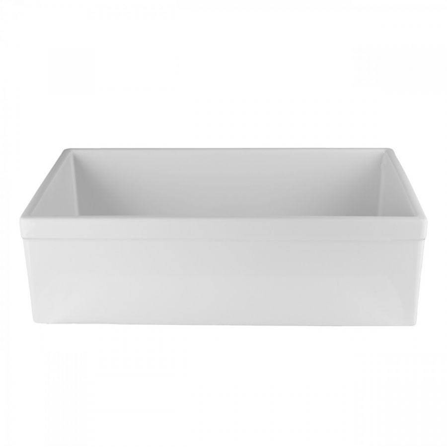 Maidstone 33'' X 18'' Reversible Fireclay Farmhouse Sink - White