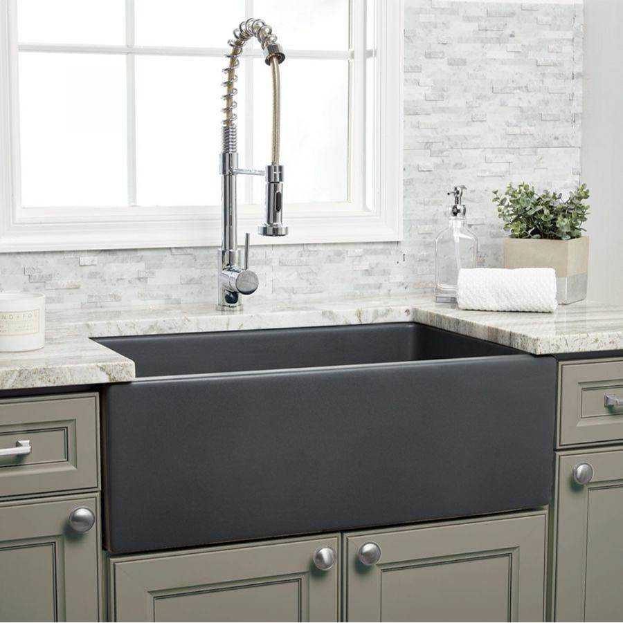 Maidstone 30'' X 18'' Reversible Fireclay Farmhouse Sink