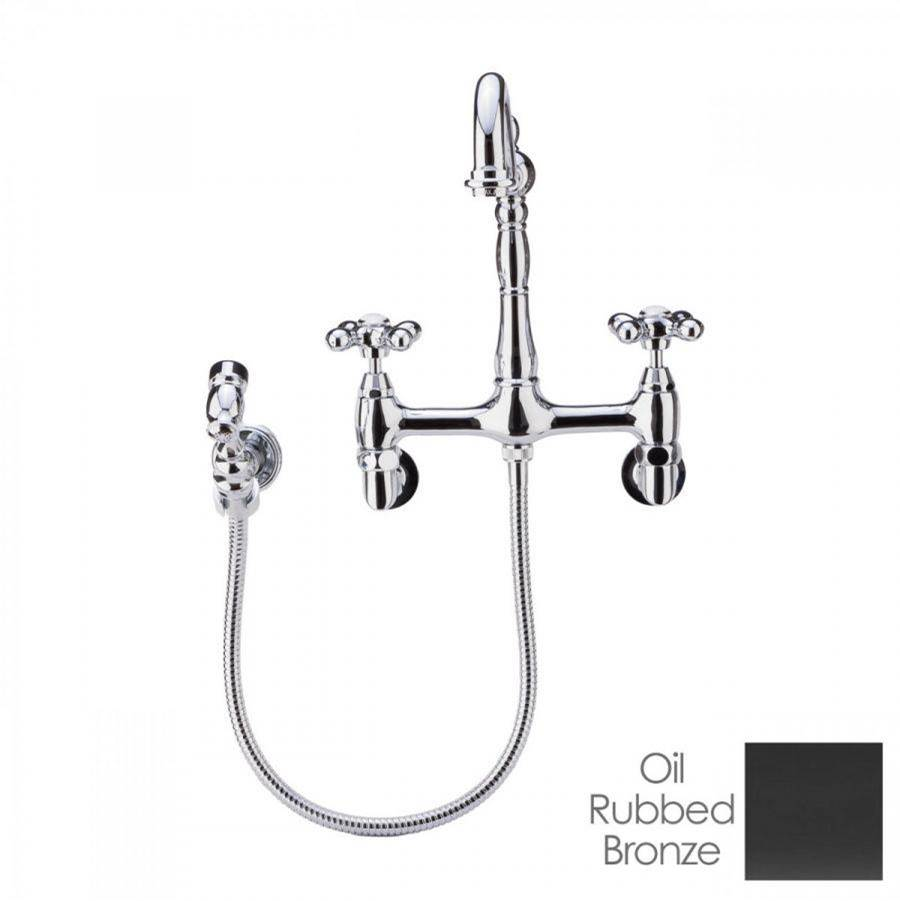 Maidstone Audrey Wall Mount Kitchen Faucet - Metal Cross Handles