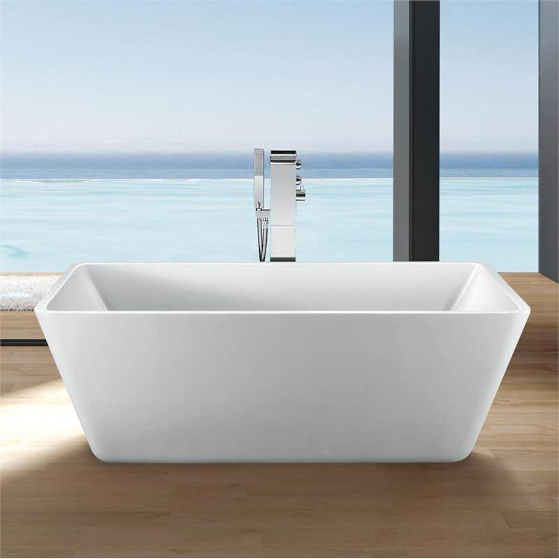 Maidstone 63-1/2 Inch Acrylic Double Ended Freestanding Tub - No Faucet Drillings
