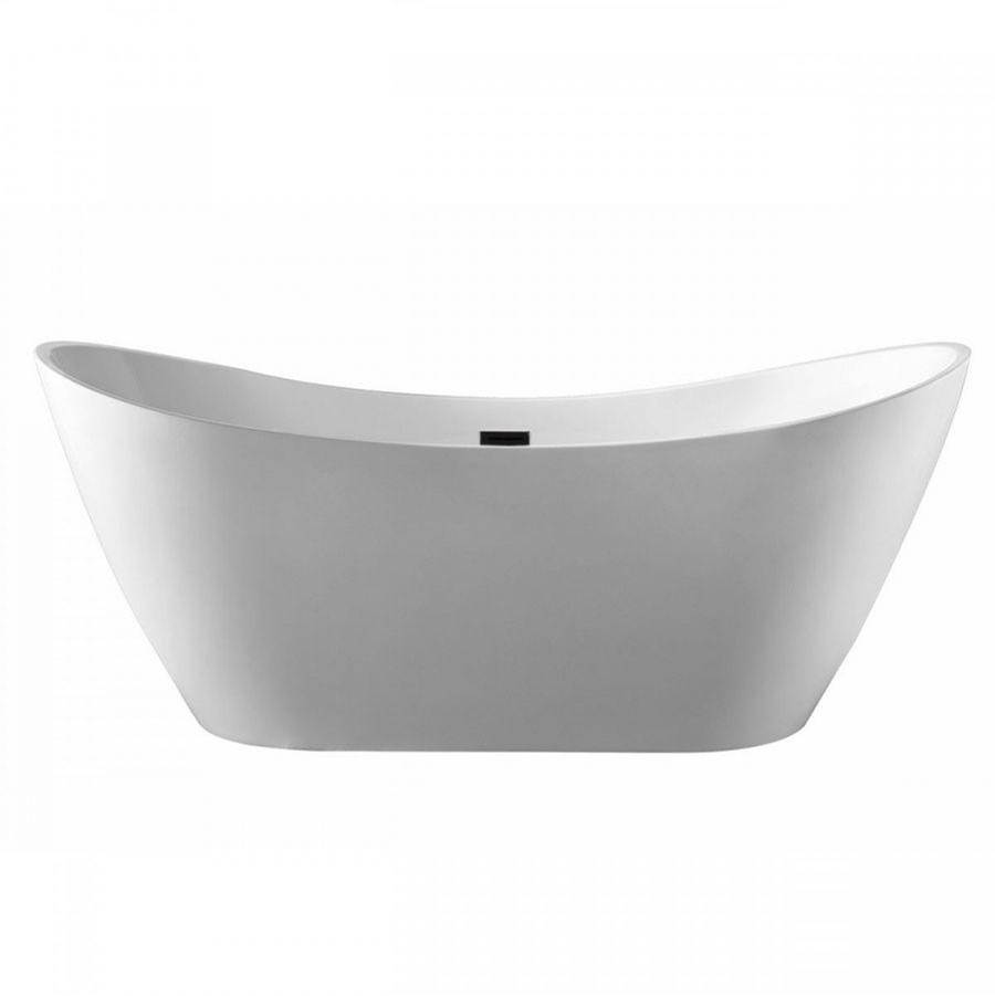 Maidstone Quinn Acrylic Contemporary Double Slipper Tub - No Faucet Drilling