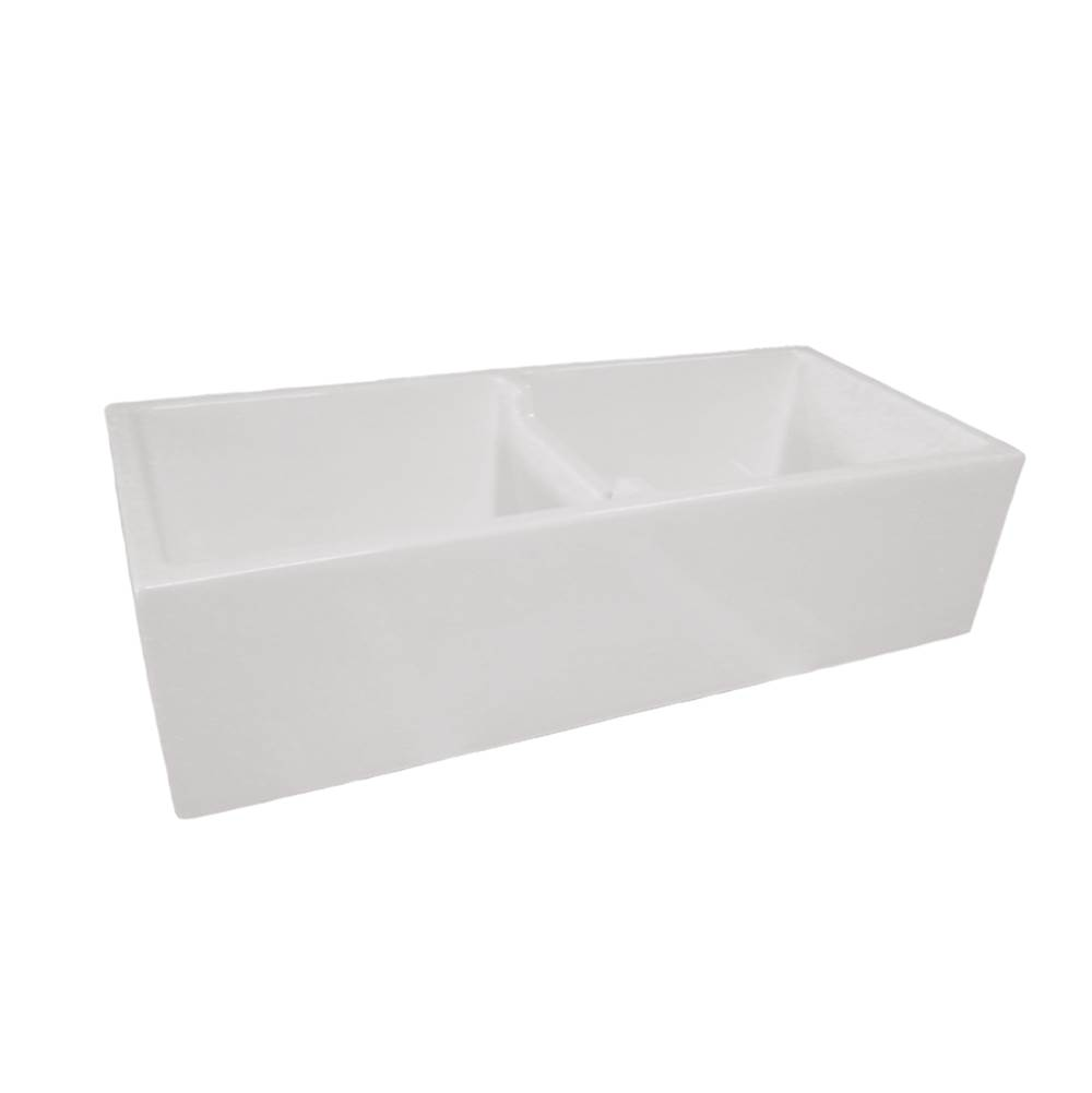 Maidstone 39 x 18 Double Bowl Fireclay Farmhouse Sink