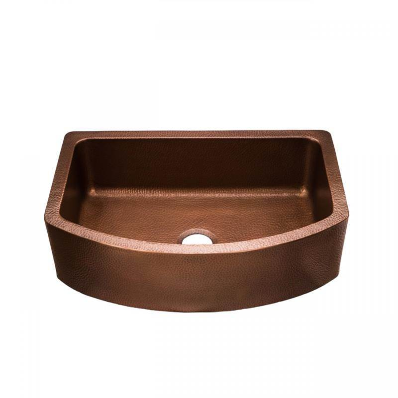 Maidstone 33 Inch Copper Single Bowl Apron Farmhouse Sink